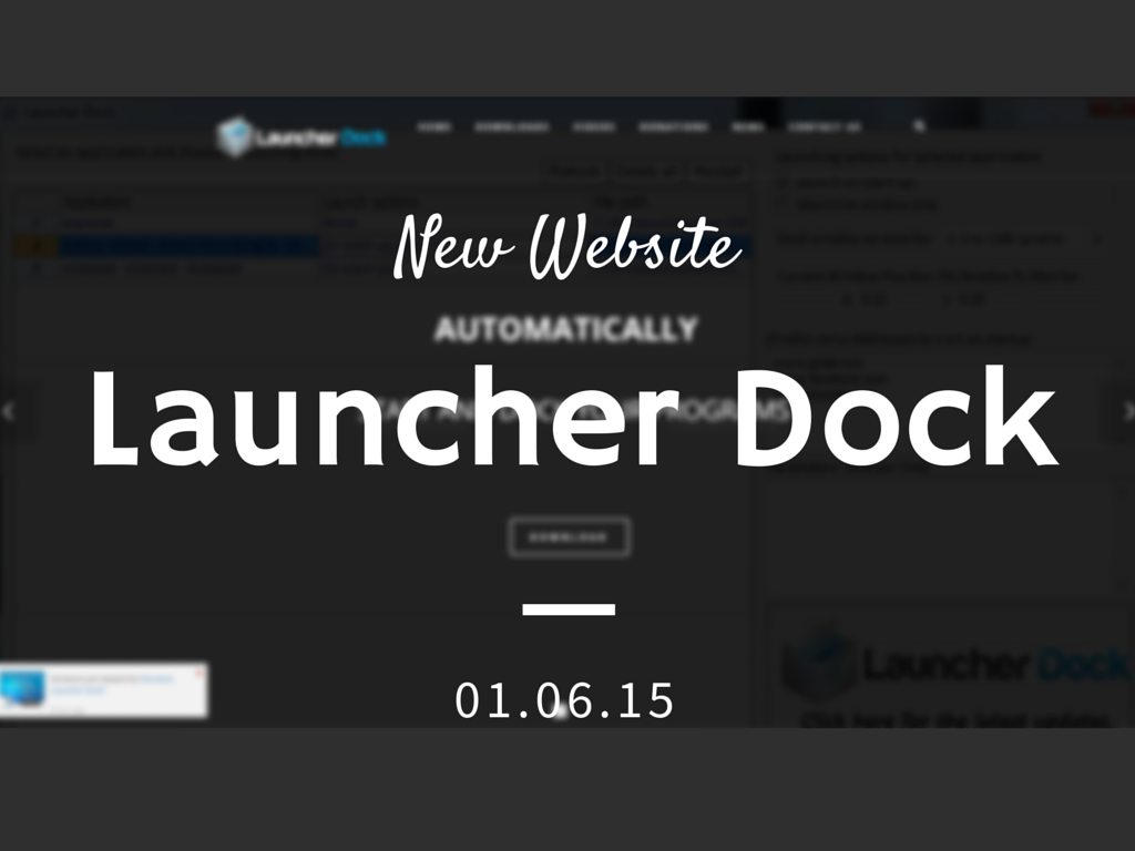 Launcher Dock New Website
